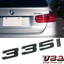 Matte Black 335i Rear Trunk Lid Emblem Letters for BMW 3 Series E90 F30 G20