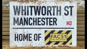 The Hacienda Manchester Rustic Style Street Sign