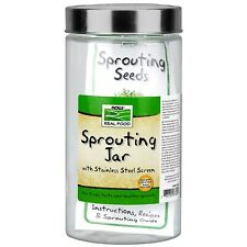 NOW Foods Sprouting Jar, 1/2 Gallon (64 oz.)