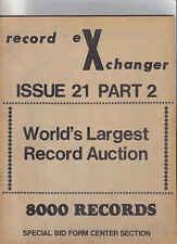 Record Exchanger-No 21 music Catalogue
