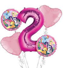 My Little Pony 2nd Compleanno 5x PALLONE Bouquet contiene 5 Palloncini Festa Età 2
