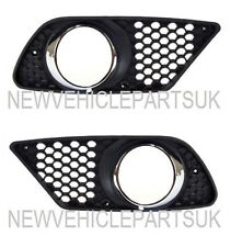 MERCEDES C-CLASS W204 AMG 2007-2011 FRONT BUMPER FOG GRILLE PAIR LEFT & RIGHT