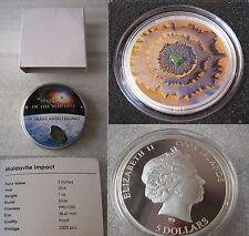 2014 MOLDAVITE IMPACT Meteorite 1oz Silver Coin