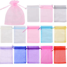 25- 100 ORGANZA GIFT BAGS Large Small Wedding Party Favour Jewellery Candy Pouch