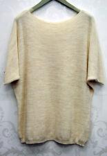 BNWT LV Clothing Italian Short Sleeved Knitted Jumper (Cream) UK Size 14-16