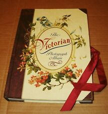Vintage 1996 The Victorian Photograph Album 23 Pages Floral Red Ribbon Tie Book