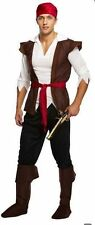 MENS CHEAP CARIBBEAN PIRATE PIRATES OF THE HALLOWEEN COSTUME FANCY DRESS U00336