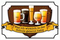 Bier Beer Schule Blechschild Schild gewölbt Metal Tin Sign 20 x 30 cm CC0136