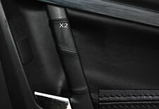 BLACK STITCH 2X REAR DOOR HANDLE SKIN COVERS FITS VAUXHALL OPEL VECTRA C SIGNUM