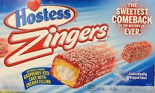 13.4oz Hostess Zingers Raspberry Iced Cake with Creamy Filling, 10 Cakes