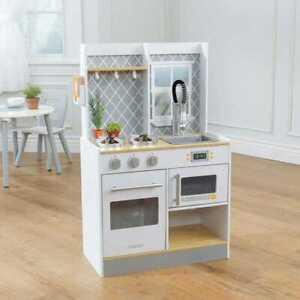 Kidkraft Let's Cook Wooden Play Kitchen | Kids Wooden Toy Kitchen