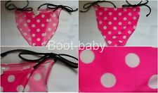 Pink With White Spot Tie Side Bikini Bottoms Size 20 BNWT Summer Beach Holiday
