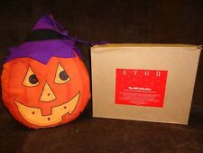 1991 AVON PLUSH LIGHT UP PUMPKIN WITH WITCH HAT FOR WALL/DOOR/WINDOW DECOR
