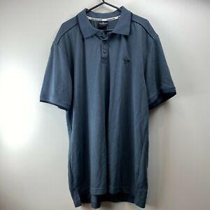 Dunlop Sport Mens Grey Short Sleeve Logo Polos Top Size L
