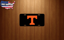 UT UNIVERSITY OF TENNESSEE black Gloss License Plate / Tag Made in USA
