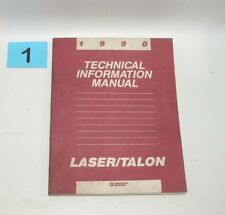 1990 Plymouth Laser Eagle Talon Technical Information Manual USED CONDITION #1