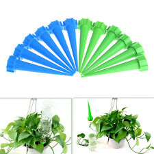12 Plant Flower Water Control Drip Cone Spike Waterer Bottle Irrigation System