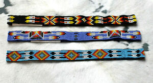 """Western Vintage Style Beaded Hatband 3/4"""" Cowboy Rodeo 3 Styles"""
