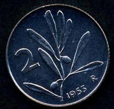 2 Lire 1953  da rotolino in FDC assoluto