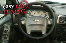FOR JEEP GRAND CHEROKEE WK BLACK REAL GENUINE LEATHER STEERING WHEEL COVER
