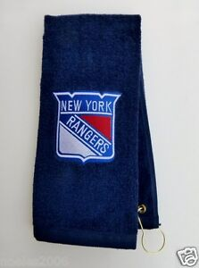 Personalized Embroidered Golf Bowling Workout Towel New York Rangers