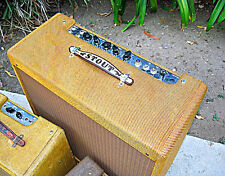 "Vintage Leather FENDER TWEED AMP HANDLE / CUSTOM ""YOUR NAME"""