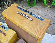"""Vintage Leather FENDER TWEED AMP HANDLE / CUSTOM """"YOUR NAME"""""""