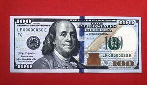 100$ 2009 Series Low Serial Number 00000050 UNC