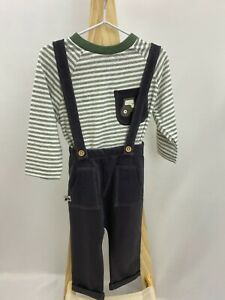 NEW Nutmeg Baby Boys Soft Tractor Dungarees Cotton Long Sleeve All In One Outfit