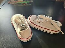 Babies Toddlers Converse All Star Trainers Size Infant 4 White
