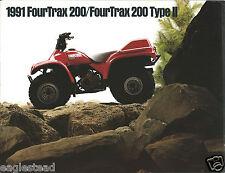 ATV Brochure - Honda - FourTrax 200 Type II - 1991  (V30)