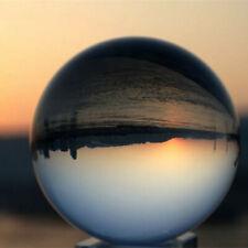 100mm Clear Crystal Glass Quartz Ball Magic Sphere Healing Valentine's Day