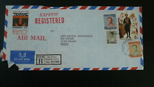royalty king registered air mail cover Thailand 1983