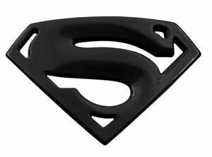 3D Quality Metal Superman Auto logo Emblem Chrome Car Motorcycle  Badge - Black