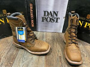 Men's Lace Up Work Boots by Dan Post. Waterproof. Steel/Soft. 6inch/8inch.