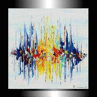 Gemälde Abstrakt MALEREI Kunst ACRYL Original BILD Gemälde MODERN Unikat Skyline