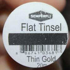 Fly Tying Semperfli Tinsel Gold Silver Pearl choose colour and width