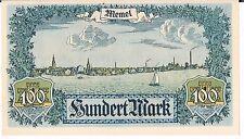 Memel banconota 100 Marchi P9 1922 AUNC DOT bordo superiore