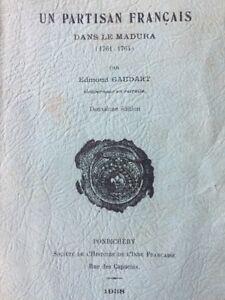 """PONDICHÉRY IMPRESSION (1938), """" Un Partisan Français dans le Madura """" Gaudart"""