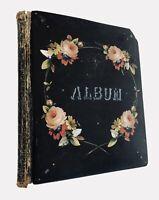 Vintage Antique Journal Autograph Scrap Book Postcards Die Cuts Scrap Art 1906