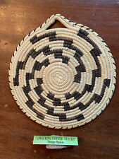 New ListingPapago Indian Basket Tray with Fingering Coyote tracks motif, Beautiful!