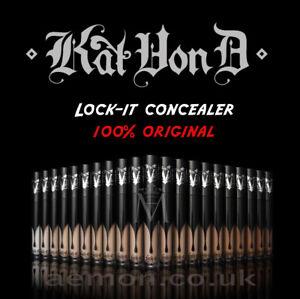 Kat Von D KVD Lock-it concealer creme LIGHT,MEDIUM,DEEP 6.25ml GENUINE