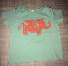Mini Boden Baby Girls Elephant  Tee T Shirt 3 6 Months