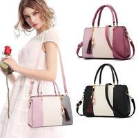 Women Leather Handbag Shoulder Messenger Crossbody Satchel Ladies Purse Tote Bag