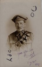WW1 soldier Driver Royal Artillery wearing Gor Blimey trench cap 1917