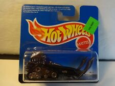 Hot Wheels Black Big Chill Snowmobile in foreign package MIP