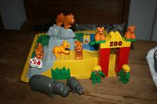 LEGO DUPLO ZOO Konvolut, 3D Platte, Tiere ect.,  bespielt
