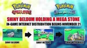 Shiny 6IVs Event! Steven's Beldum for Pokemon X/Y OR/AS + Free Item