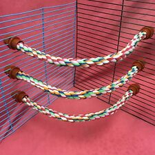 3x Rope Toy 15 Inch Flexible Chew Gnaw Exercise Climb Play Colourful Hamster Rat