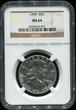 1959 50C MS 64 NGC USA coin